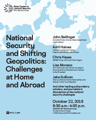 National Security and Shifting Geopolitics: Challenges at