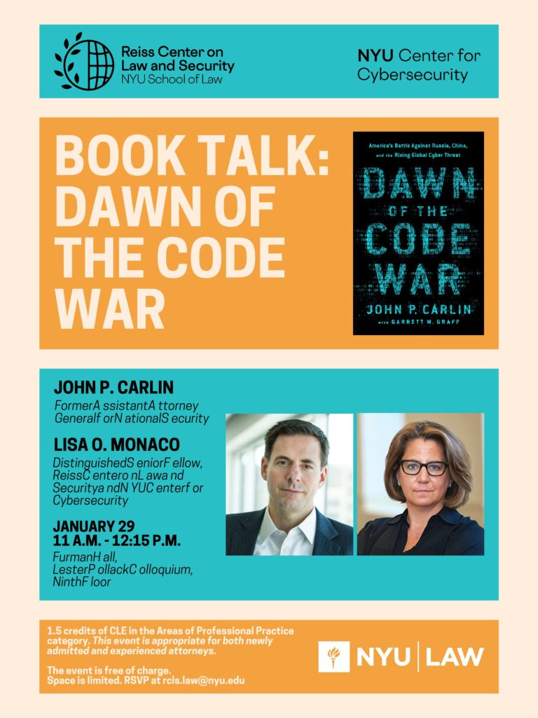 John Carlin book talk poster