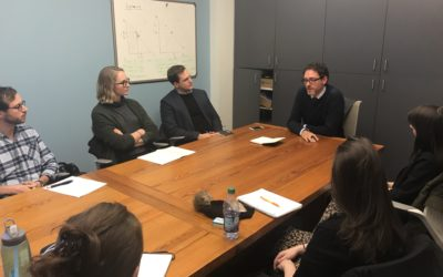 Dr. Alexander Bick of Johns Hopkins SAIS speaks with NYU Law Students