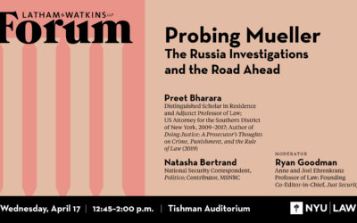 Past Event - Probing Mueller: The Russia Investigations and the Road Ahead