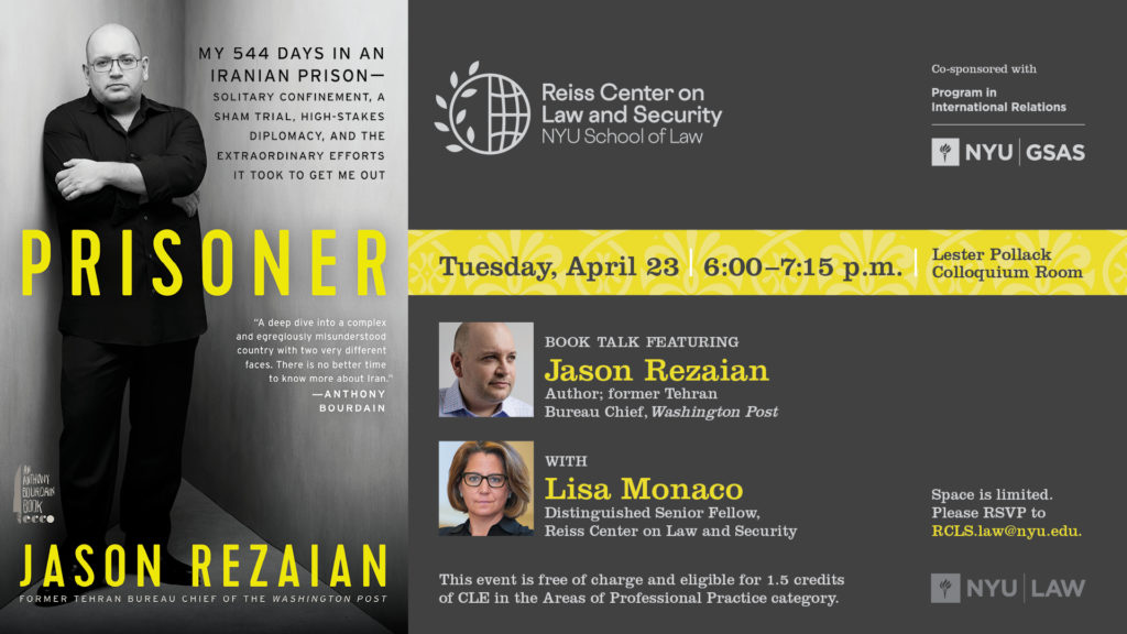 E-Sign for Rezaian Book Talk