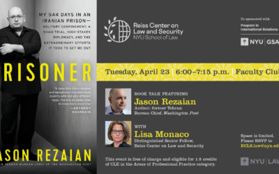 Watch Jason Rezaian discuss his book, Prisoner: My 544 Days in an Iranian Prison