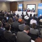 Crowd and full panel (Monaco, Kim, Slotkin, Hurd)