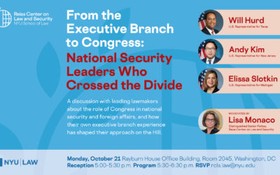 DC Panel on Oct. 21: National Security Leaders Who Crossed the Divide