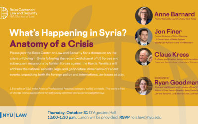 Recap: What's Happening in Syria? Anatomy of a Crisis